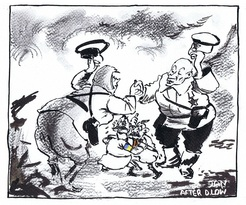 We mark the 75th anniversary of the Ribbentrop-Molotov Pact with a updated twist on the classic David Low cartoon